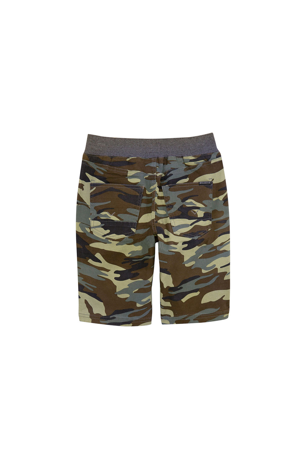 BOYS CAMPBELL SHORT, SIZES 8-20 - OLIVE CAMOUFLAGE - Image 2