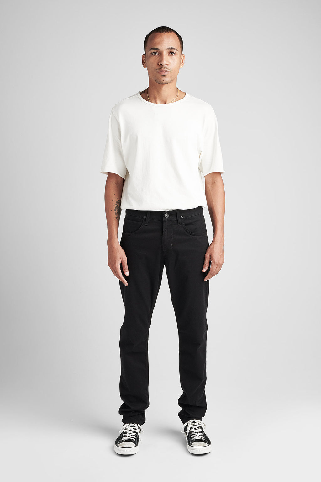 BLAKE SLIM STRAIGHT TWILL JEAN - BLACKENED - Image 1