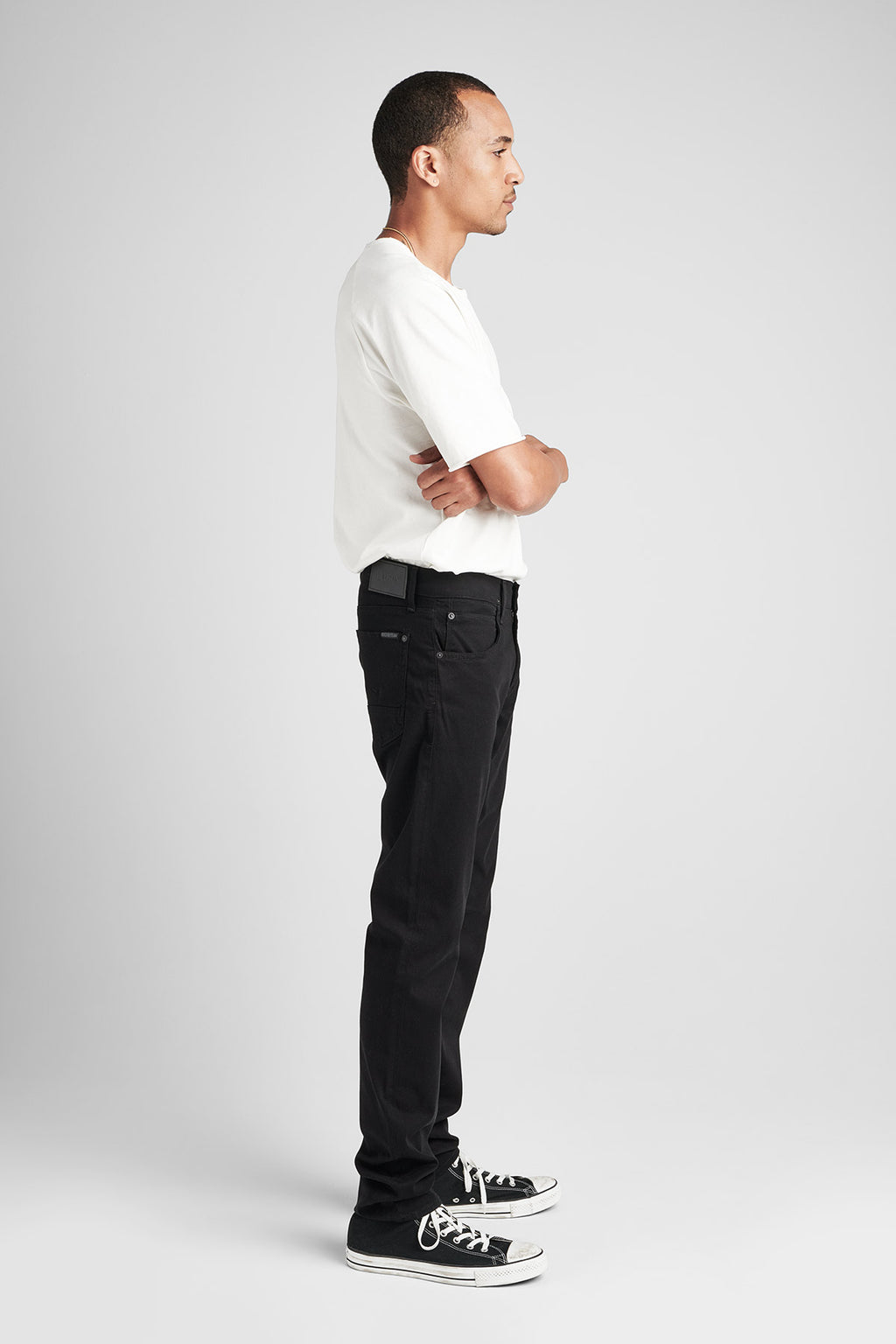 BLAKE SLIM STRAIGHT TWILL JEAN - BLACKENED - Image 2
