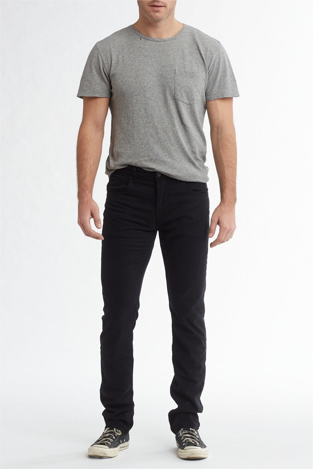 BLAKE SLIM STRAIGHT TWILL JEAN - BLACK - Image 1