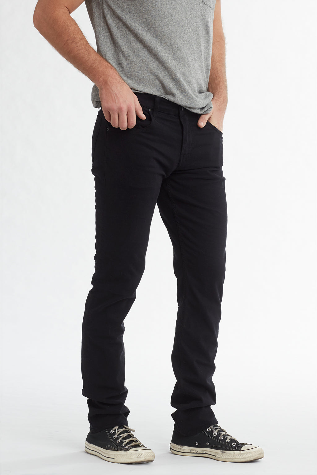 BLAKE SLIM STRAIGHT TWILL JEAN - BLACK - Image 2