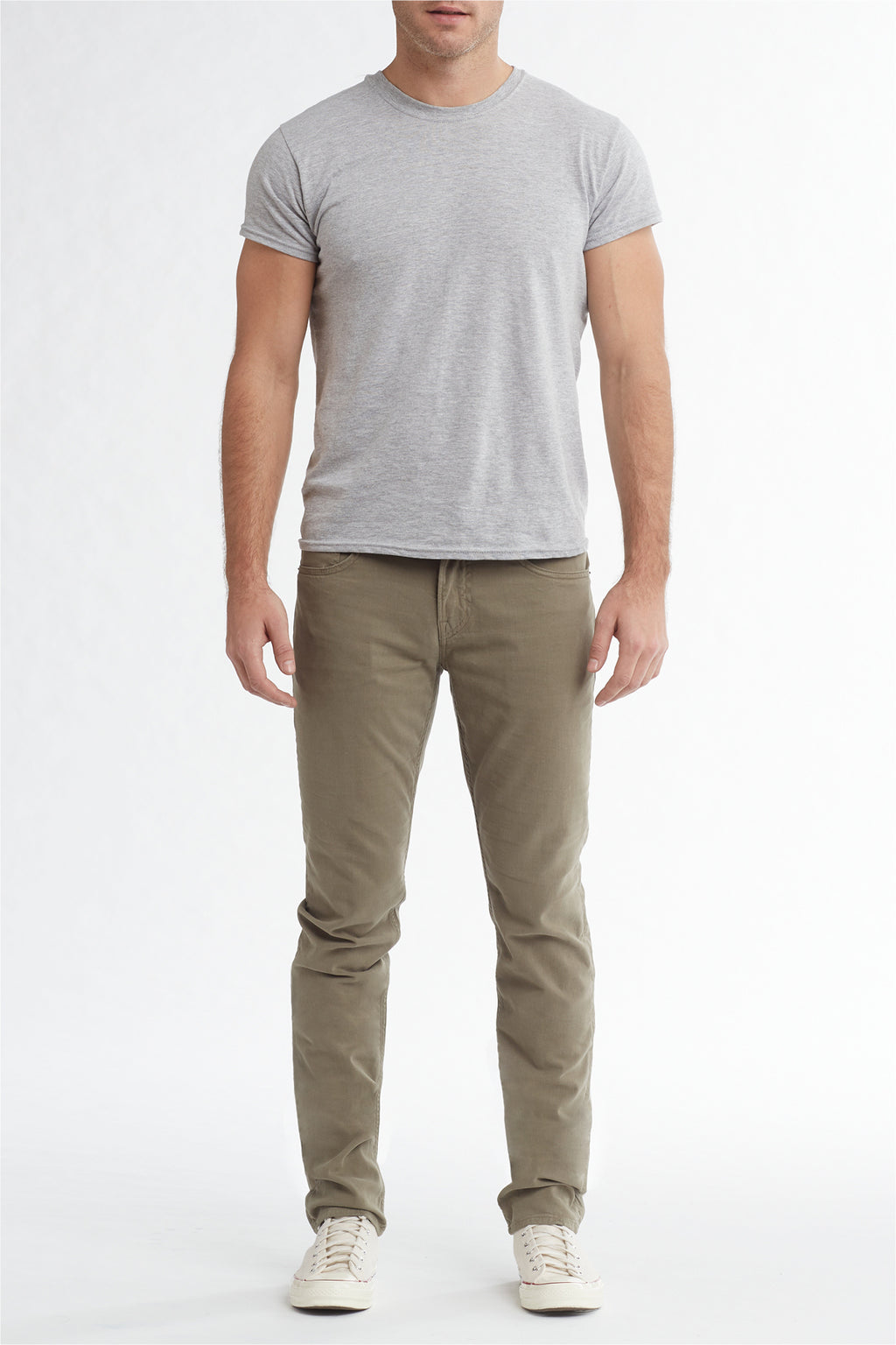 BLAKE SLIM STRAIGHT TWILL JEAN - DUSTY OLIVE - Image 1