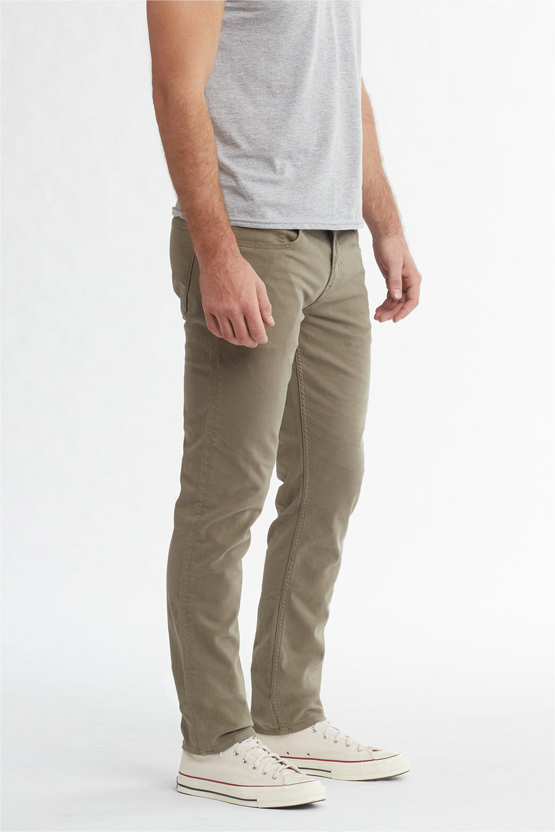 BLAKE SLIM STRAIGHT TWILL JEAN - DUSTY OLIVE - Image 2