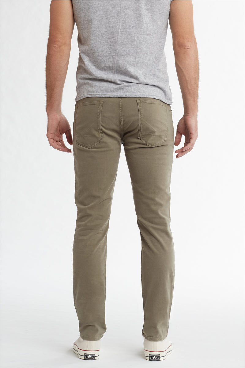 BLAKE SLIM STRAIGHT TWILL JEAN - DUSTY OLIVE - Image 4