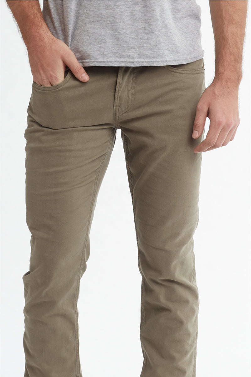 BLAKE SLIM STRAIGHT TWILL JEAN - DUSTY OLIVE - Image 5