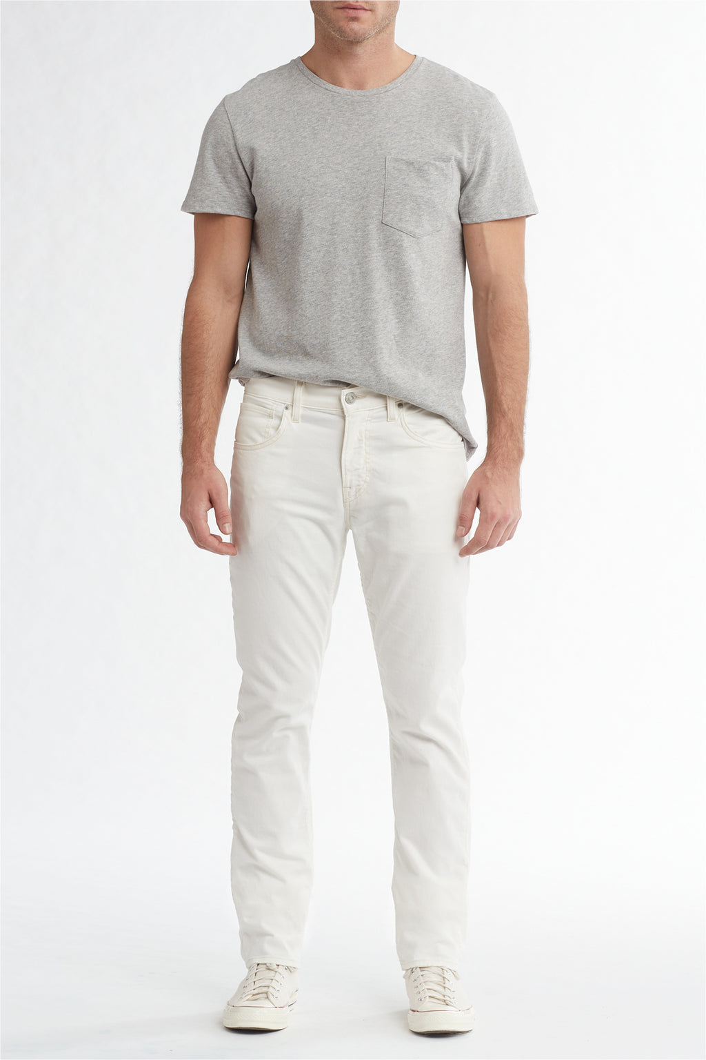 BLAKE SLIM STRAIGHT TWILL JEAN - DIRTY WHITE - Image 1