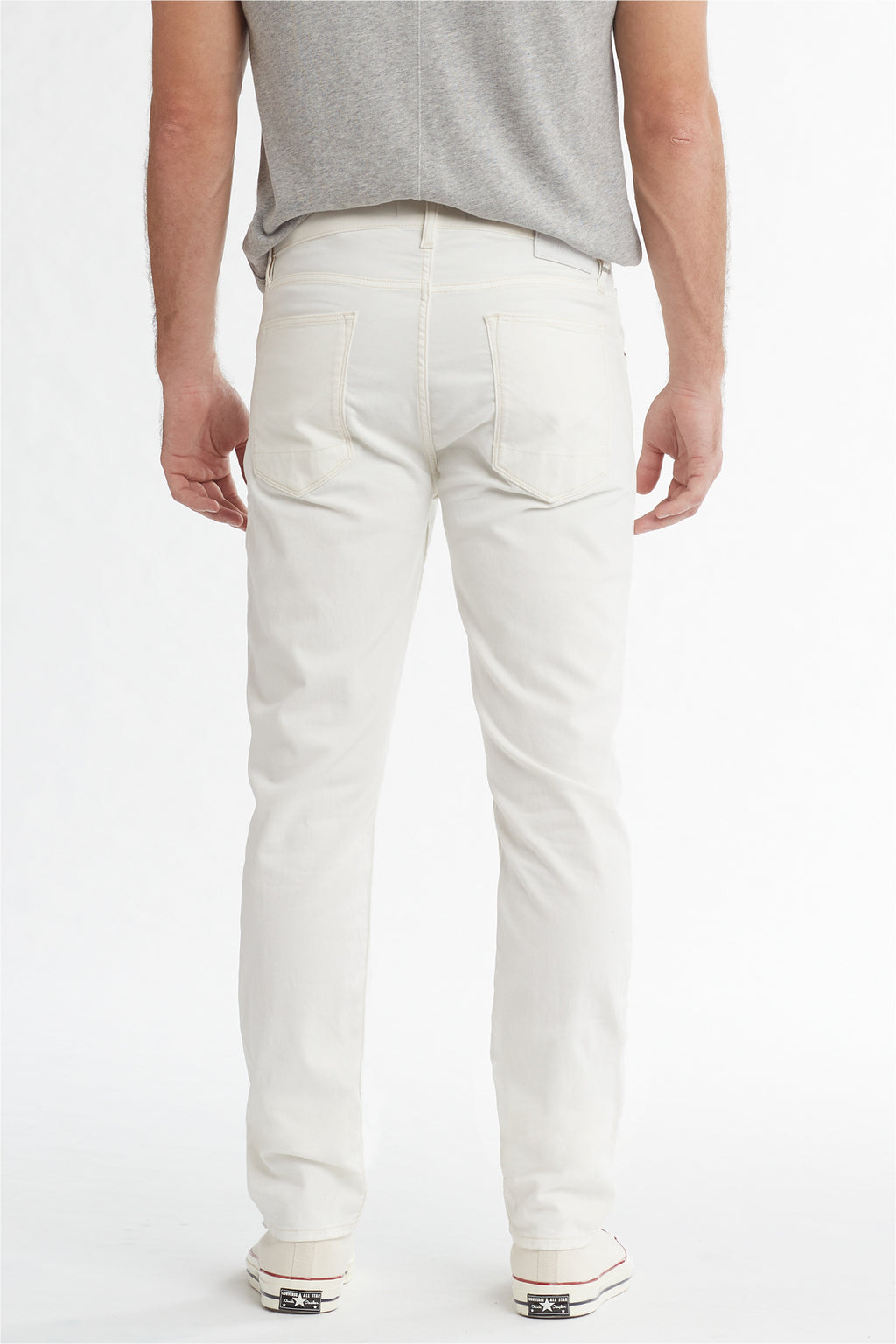 BLAKE SLIM STRAIGHT TWILL JEAN - DIRTY WHITE - Image 4
