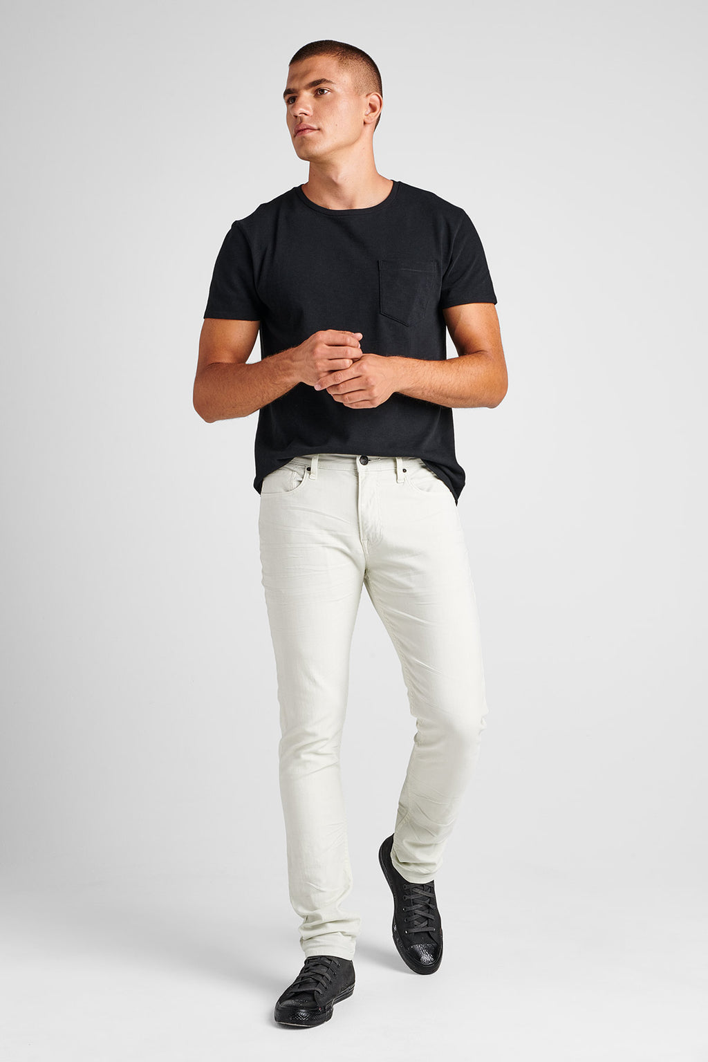 AXL SKINNY TWILL JEAN - DIRTY WHITE - Image 1