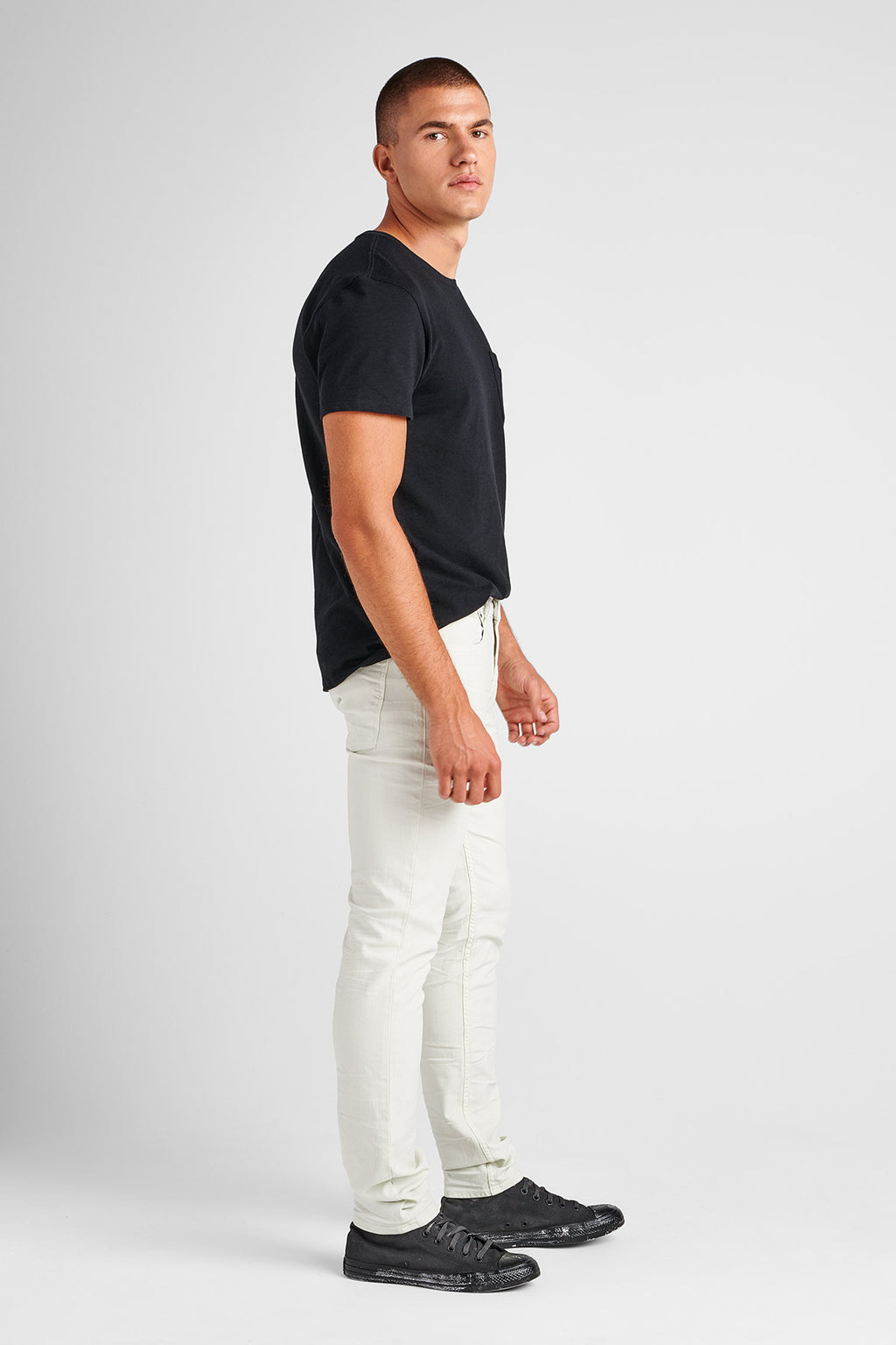 AXL SKINNY TWILL JEAN - DIRTY WHITE - Image 2