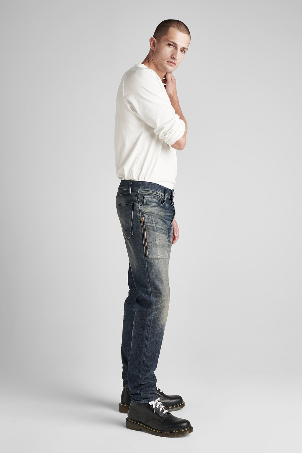 SARTOR RELAXED SKINNY JEAN WITH EXPOSED ZIPPERS - MILLIGAN - Image 2