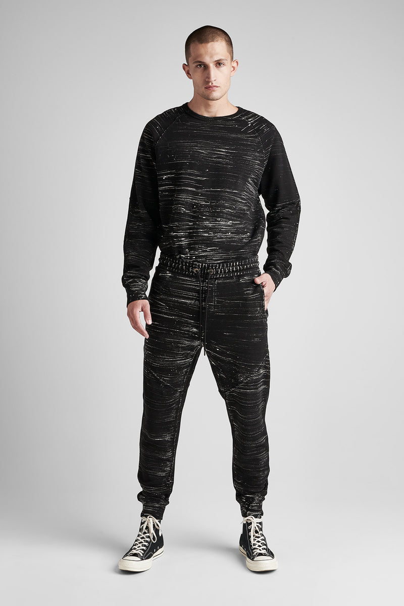 FRENCH TERRY JOGGER - BLACK MARBLE - Image 1