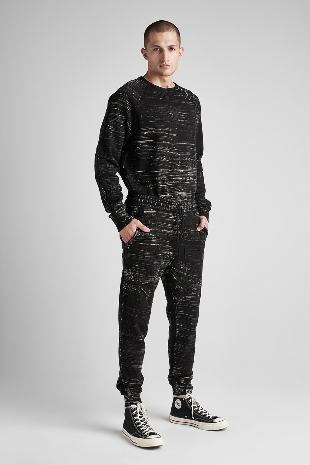 FRENCH TERRY JOGGER - BLACK MARBLE - Image 2
