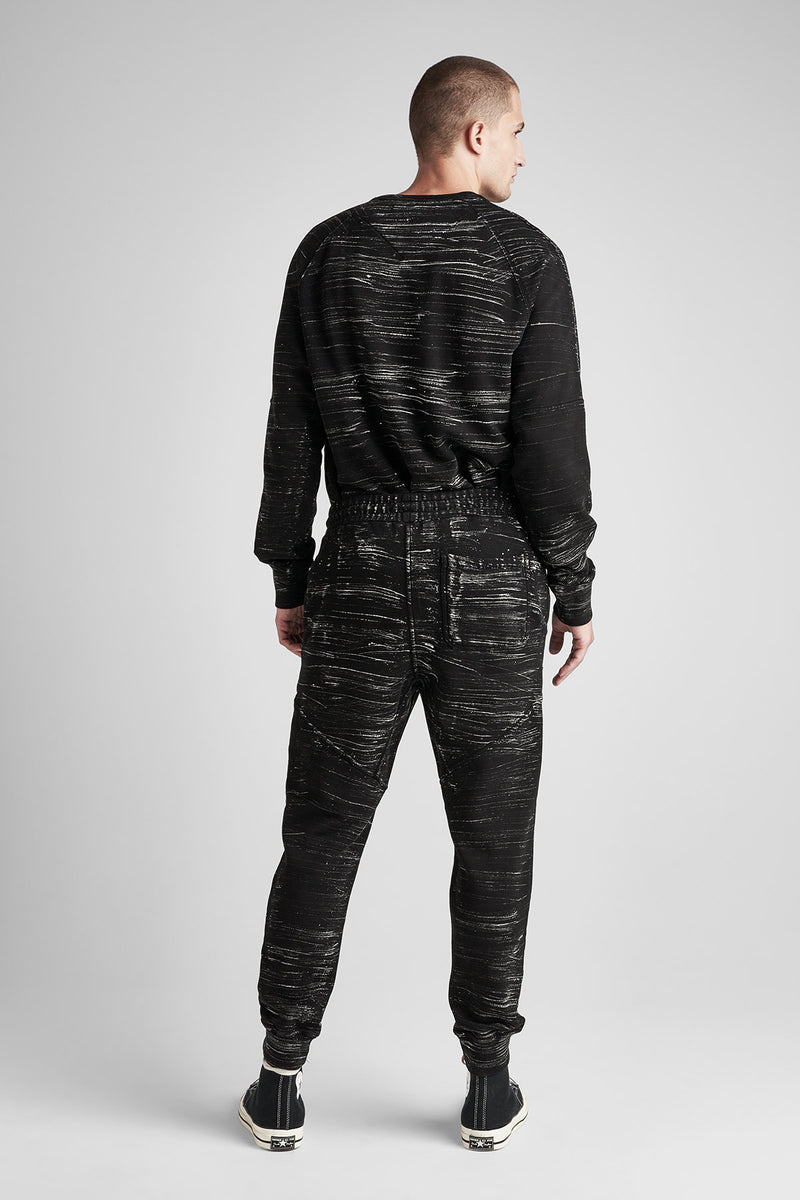 FRENCH TERRY JOGGER - BLACK MARBLE - Image 3