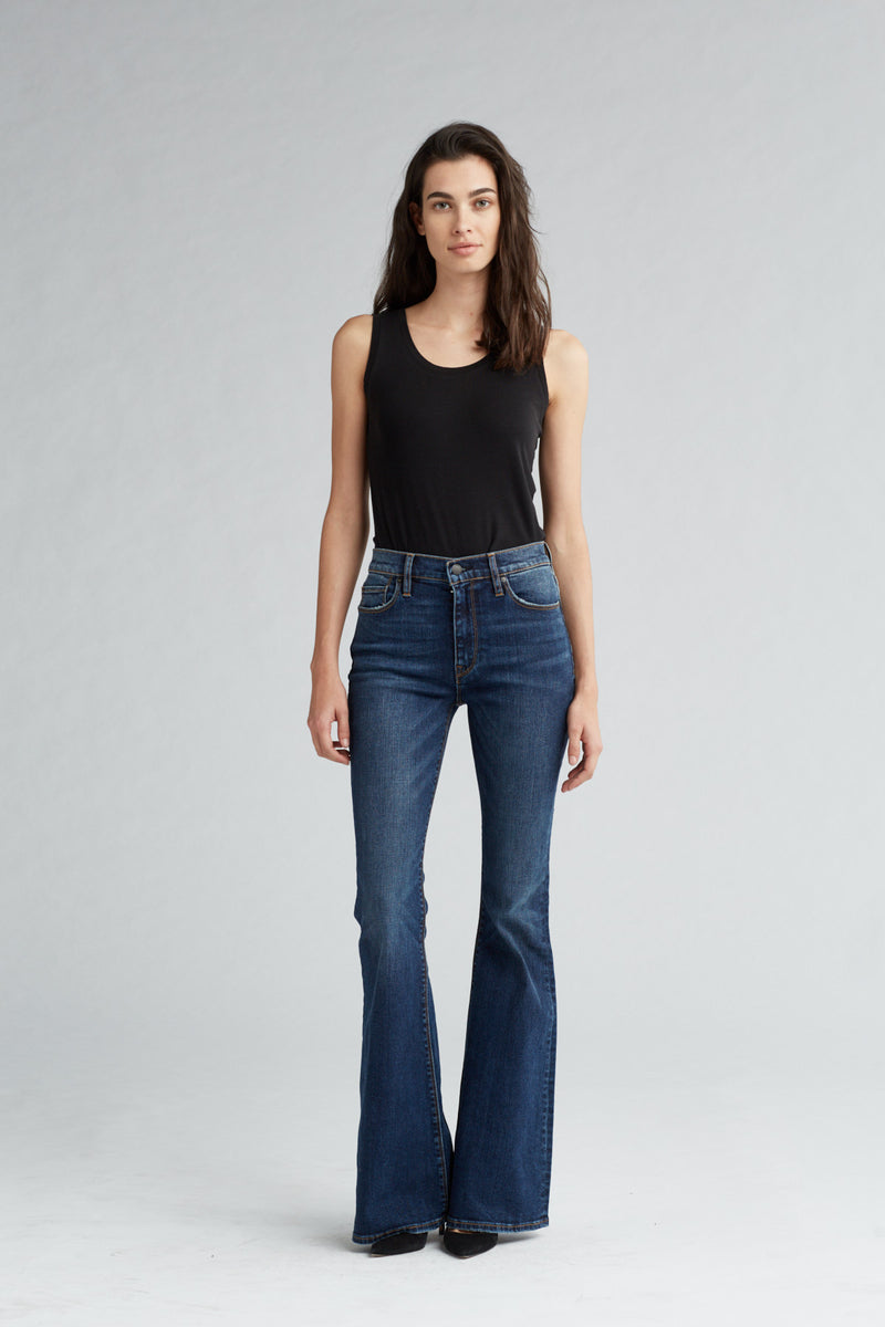 HOLLY HIGH RISE FLARE JEAN - VAGABOND - Image 1