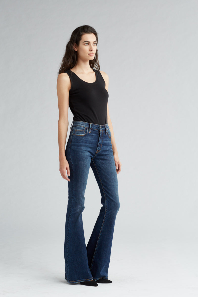 HOLLY HIGH RISE FLARE JEAN - VAGABOND - Image 2