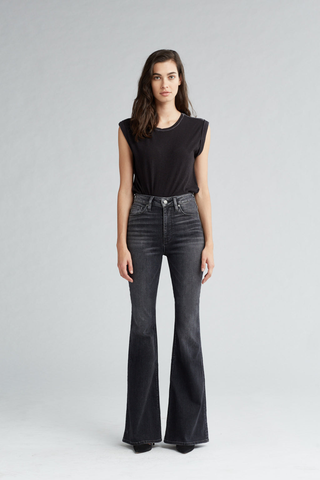 HOLLY HIGH RISE FLARE JEAN - KONA - Image 1