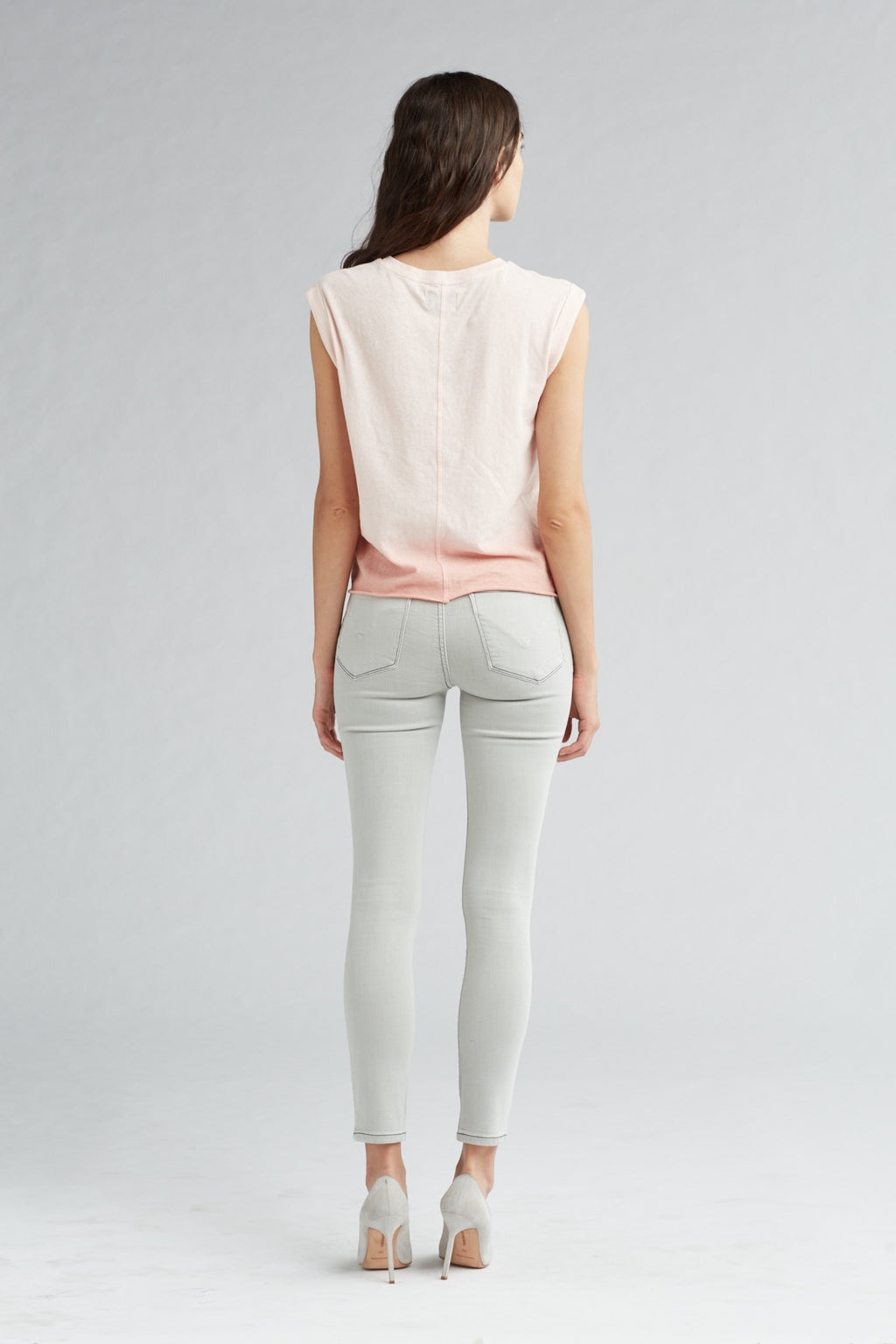 ROLLED SLEEVE TANK - PINK OMBRE - Image 4