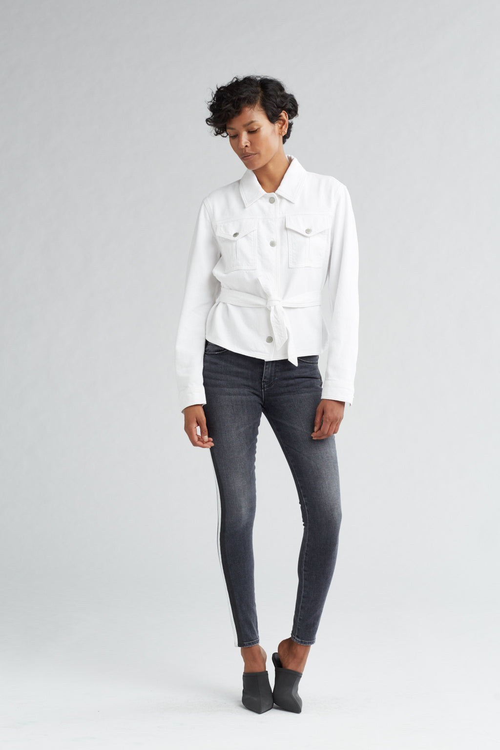 MILITARY TIE TOP - OFF WHITE - Image 1