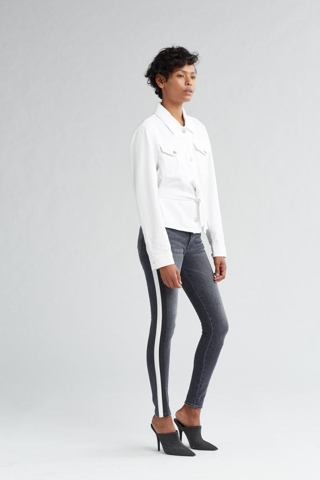MILITARY TIE TOP - OFF WHITE - Image 2