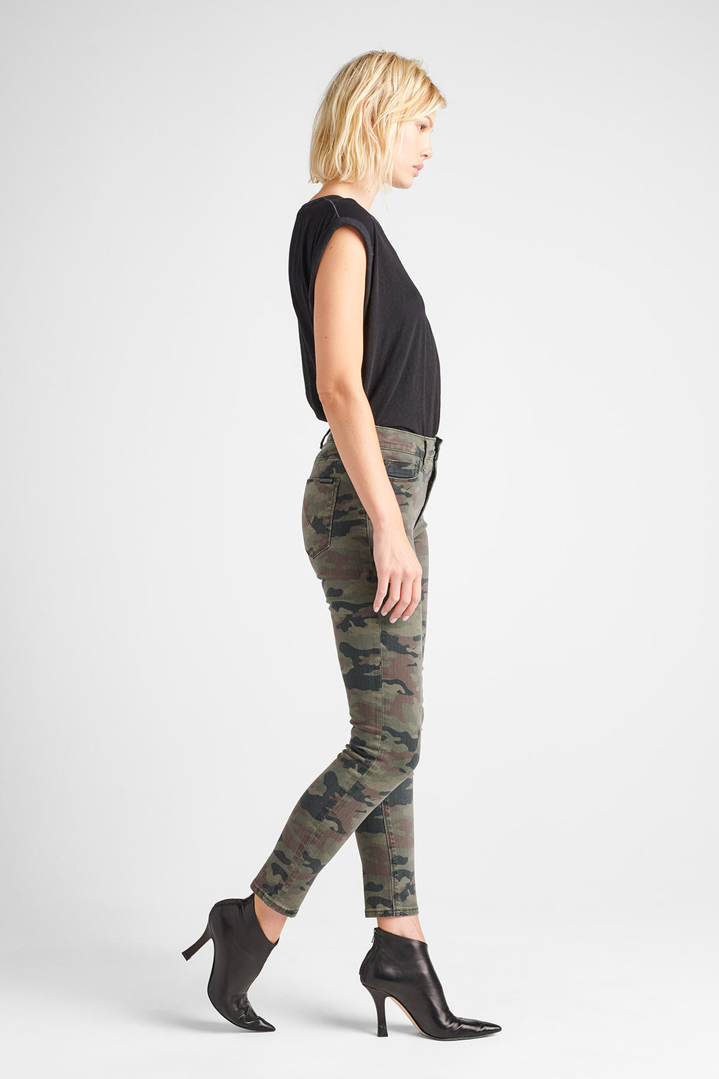 BARBARA HIGH RISE SUPER SKINNY ANKLE JEAN - DEPLOYED CAMO - Image 2
