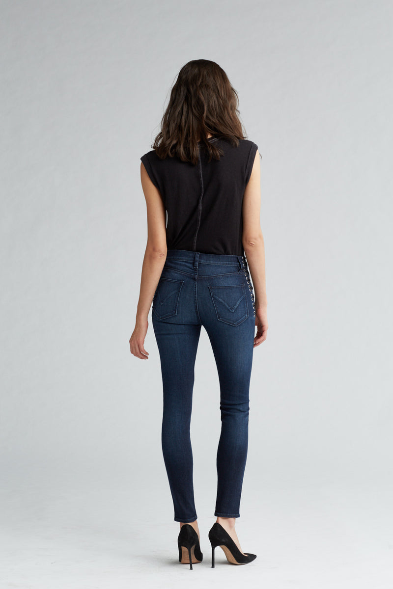 BARBARA HIGH RISE SUPER SKINNY ANKLE JEAN - MOON LIGHT - Image 5