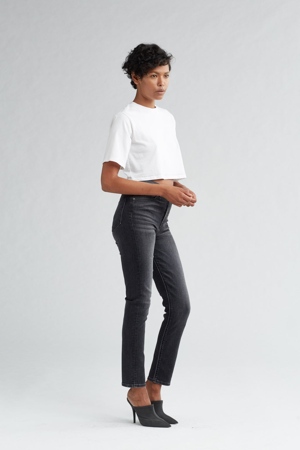 HOLLY HIGH RISE SKINNY CROP JEAN - KONA - Image 2