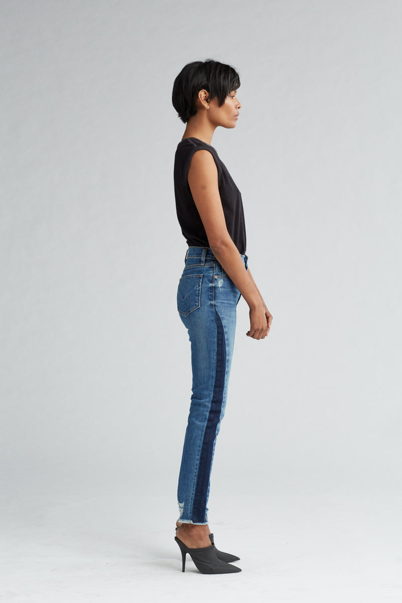 HOLLY HIGH RISE SKINNY CROP JEAN - SHADE OFF - Image 3