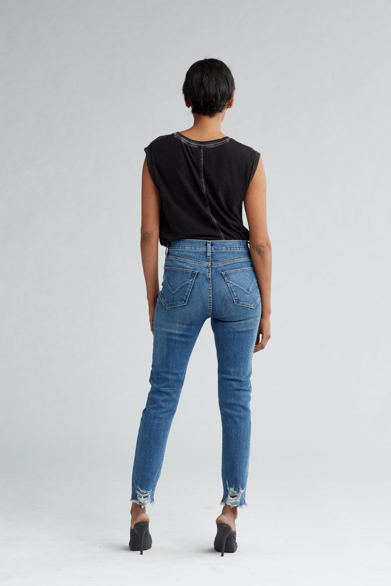 HOLLY HIGH RISE SKINNY CROP JEAN - SHADE OFF - Image 4