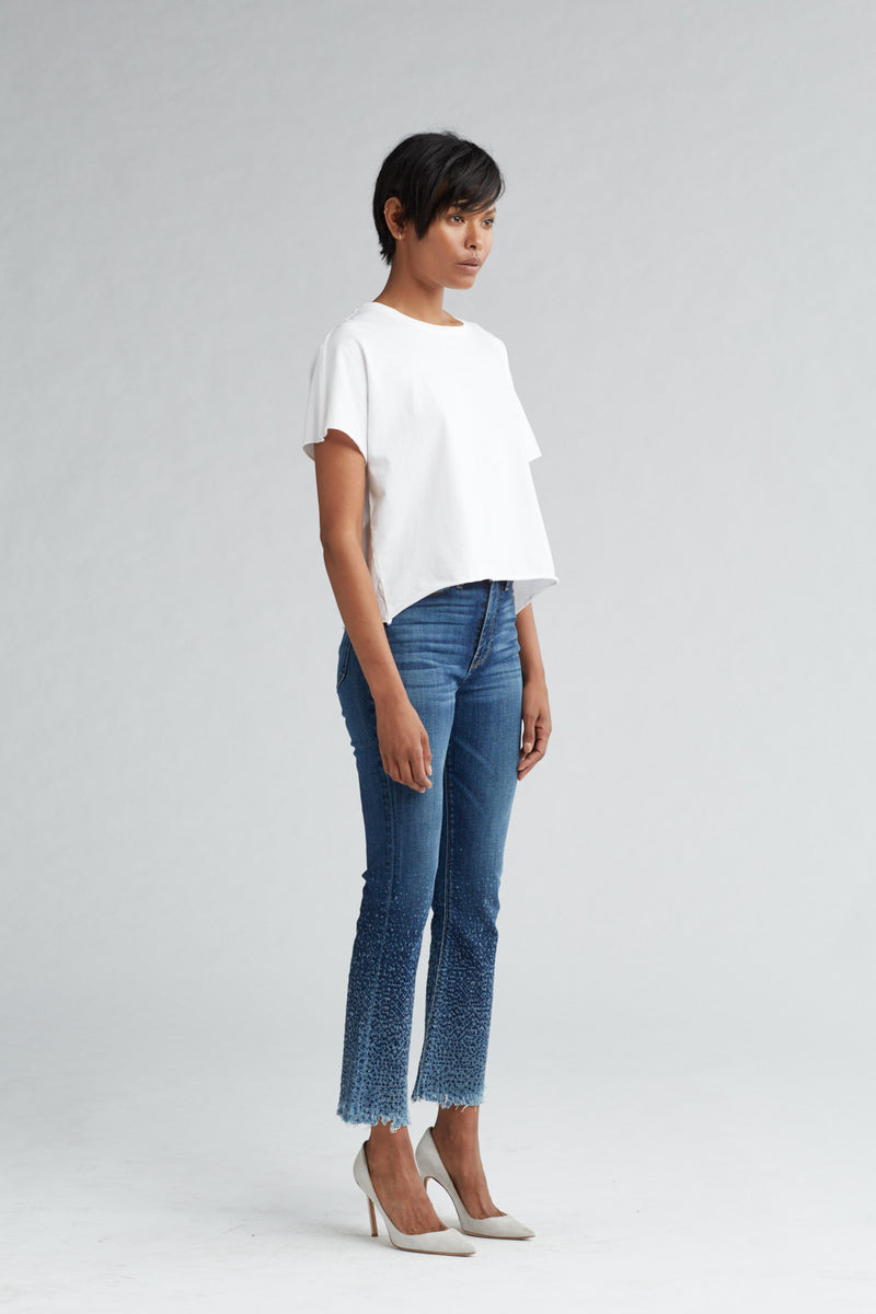HOLLY HIGH RISE CROP FLARE JEAN - DIST. SUNDOWN (DISTRESSED) - Image 2