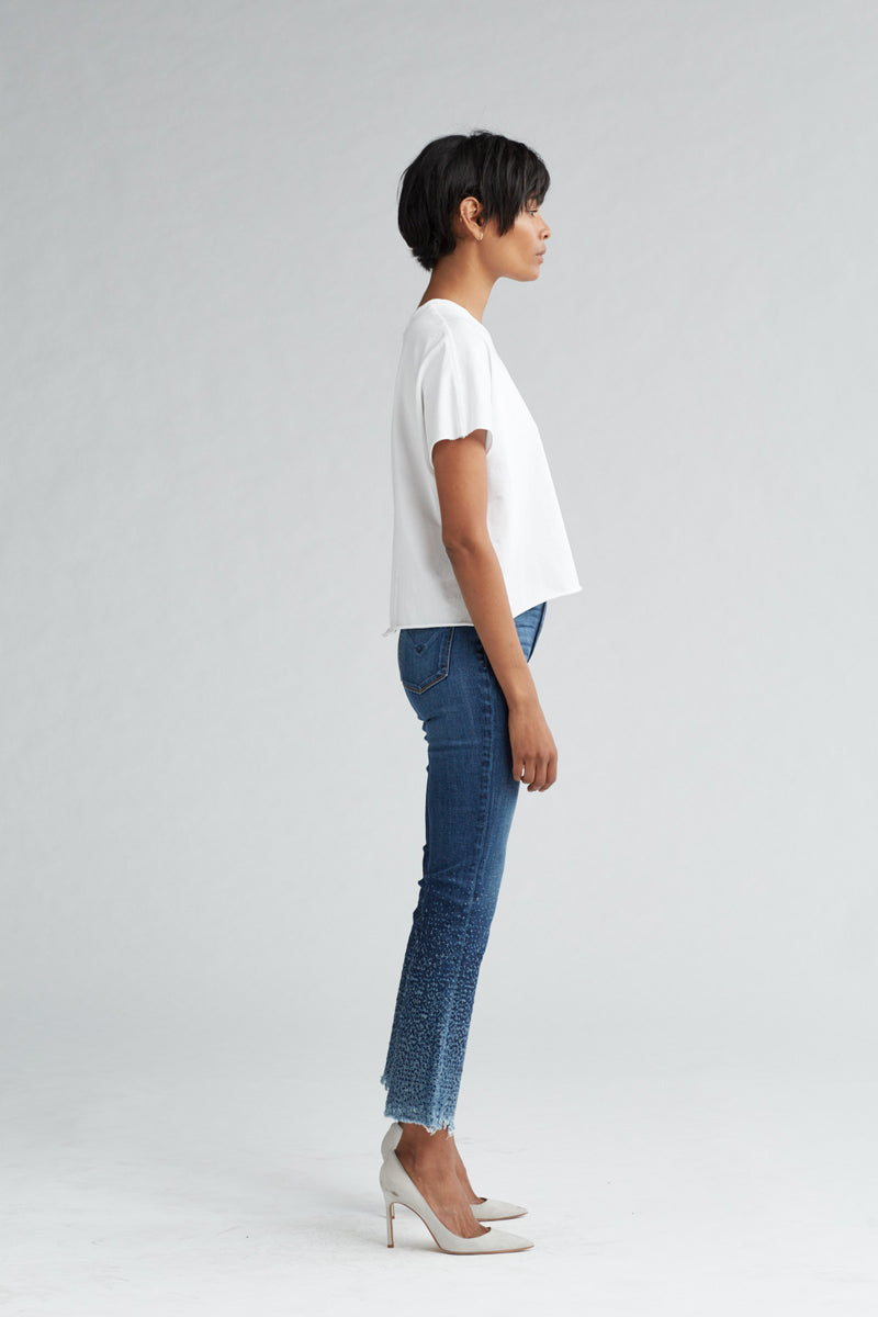 HOLLY HIGH RISE CROP FLARE JEAN - DIST. SUNDOWN (DISTRESSED) - Image 4