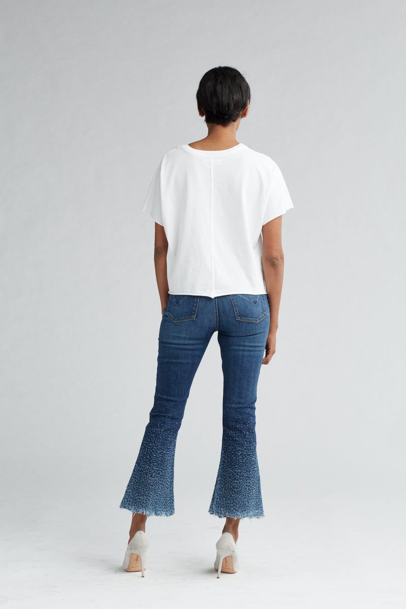 HOLLY HIGH RISE CROP FLARE JEAN - DIST. SUNDOWN (DISTRESSED) - Image 5