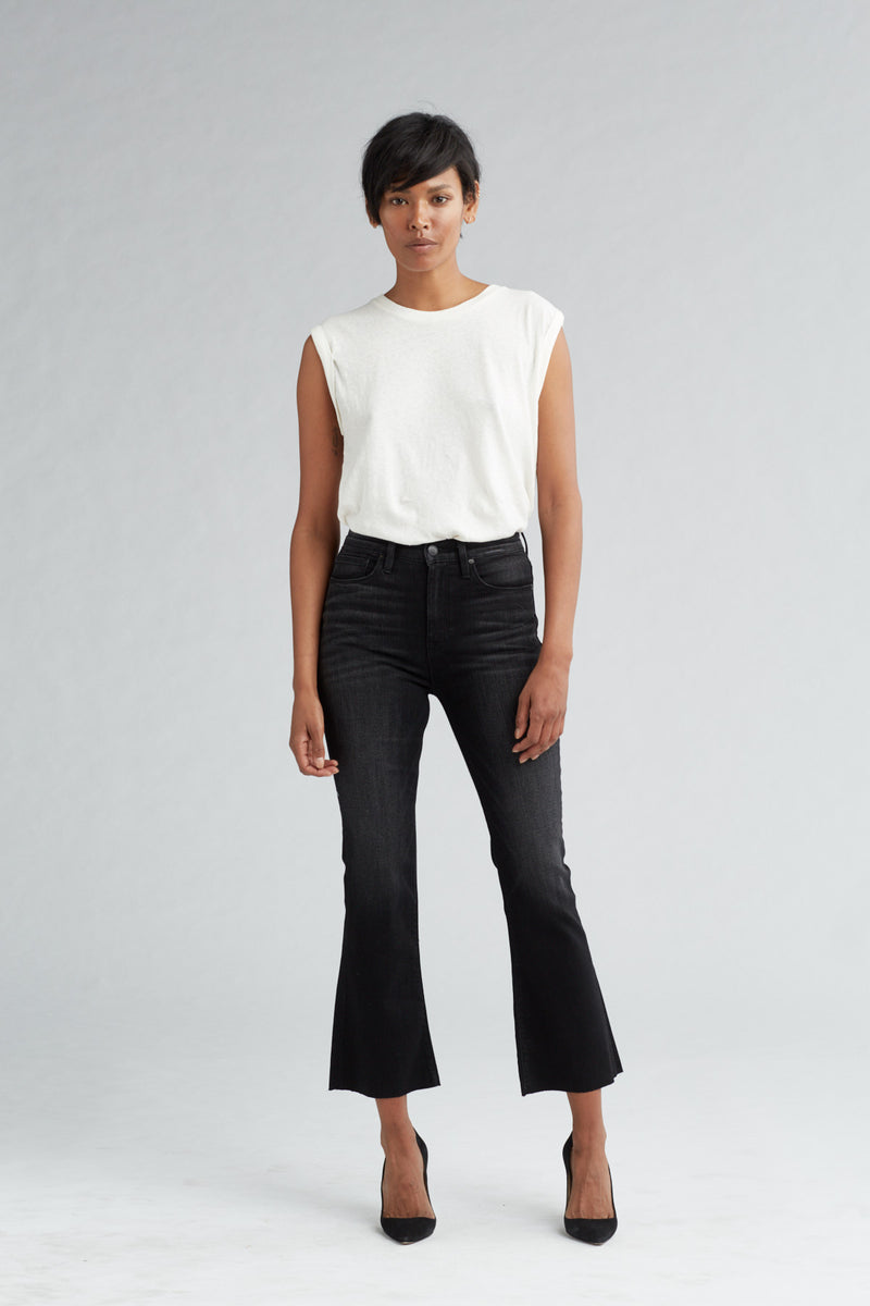 HOLLY HIGH RISE CROP FLARE JEAN - BLACK HOUND - Image 1