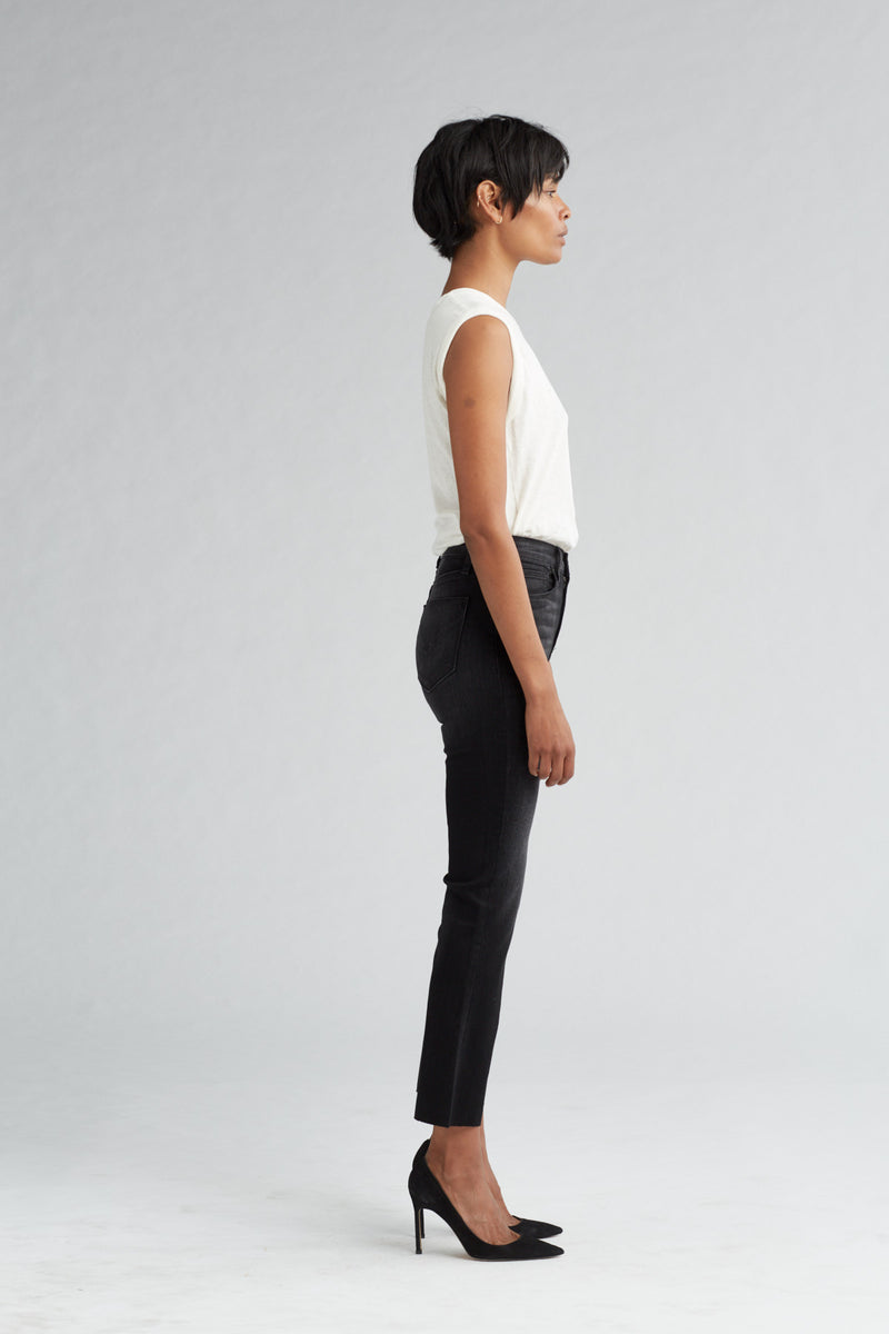 HOLLY HIGH RISE CROP FLARE JEAN - BLACK HOUND - Image 3
