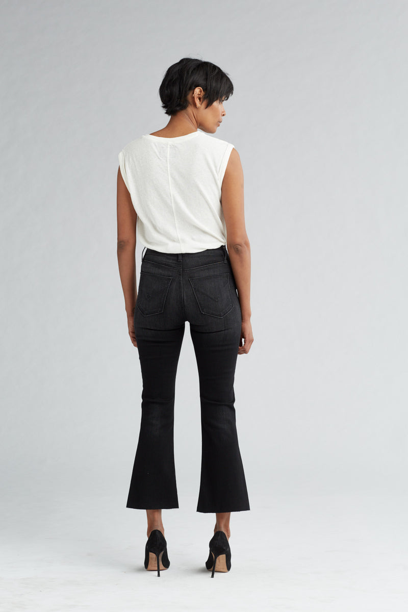 HOLLY HIGH RISE CROP FLARE JEAN - BLACK HOUND - Image 4