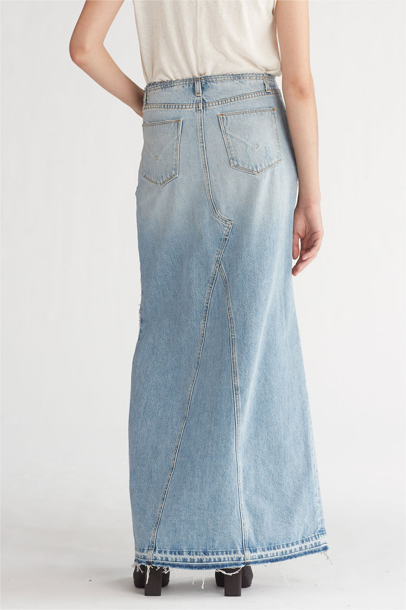 SLOANE LONG DENIM SKIRT - OVERTHROW - Image 4