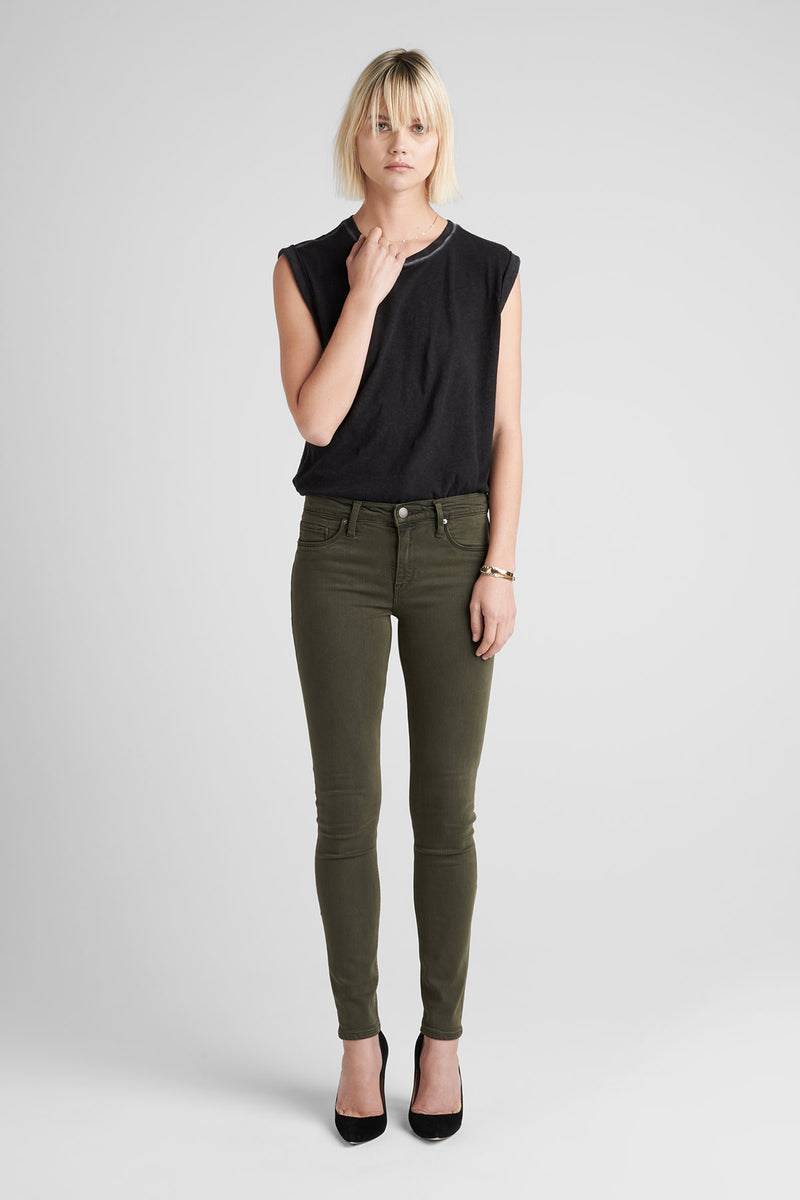 NICO MIDRISE SUPER SKINNY JEAN - DIST. DK. FORESTER - Image 2
