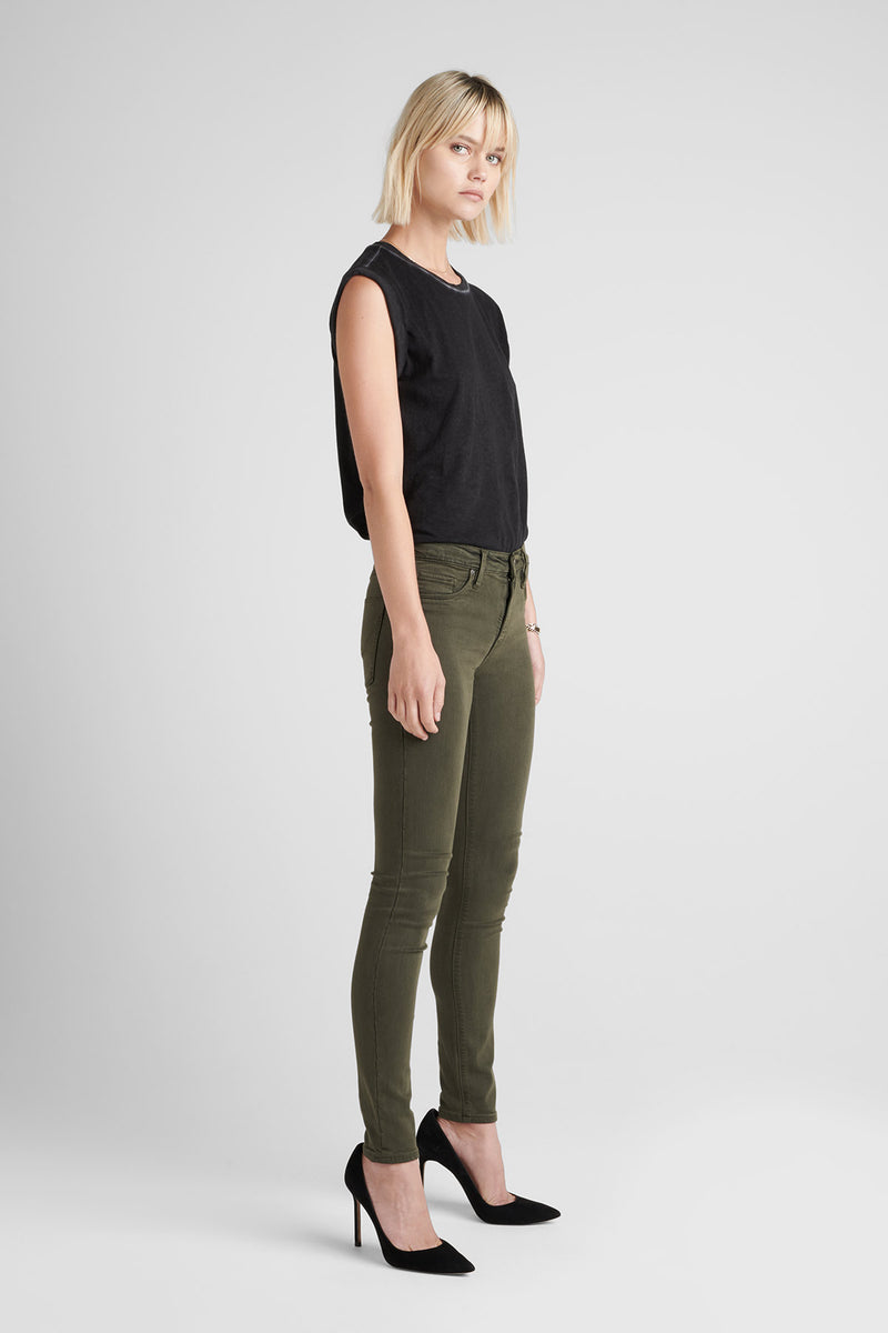 NICO MIDRISE SUPER SKINNY JEAN - DIST. DK. FORESTER - Image 3