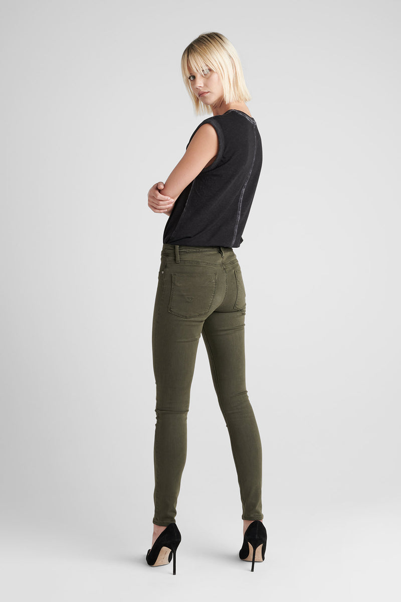 NICO MIDRISE SUPER SKINNY JEAN - DIST. DK. FORESTER - Image 4