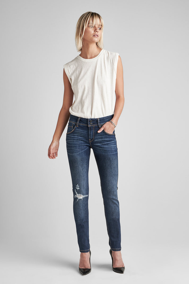 COLLIN MIDRISE SKINNY JEAN - DEST. POPULAR (DESTRUCTED) - Image 1