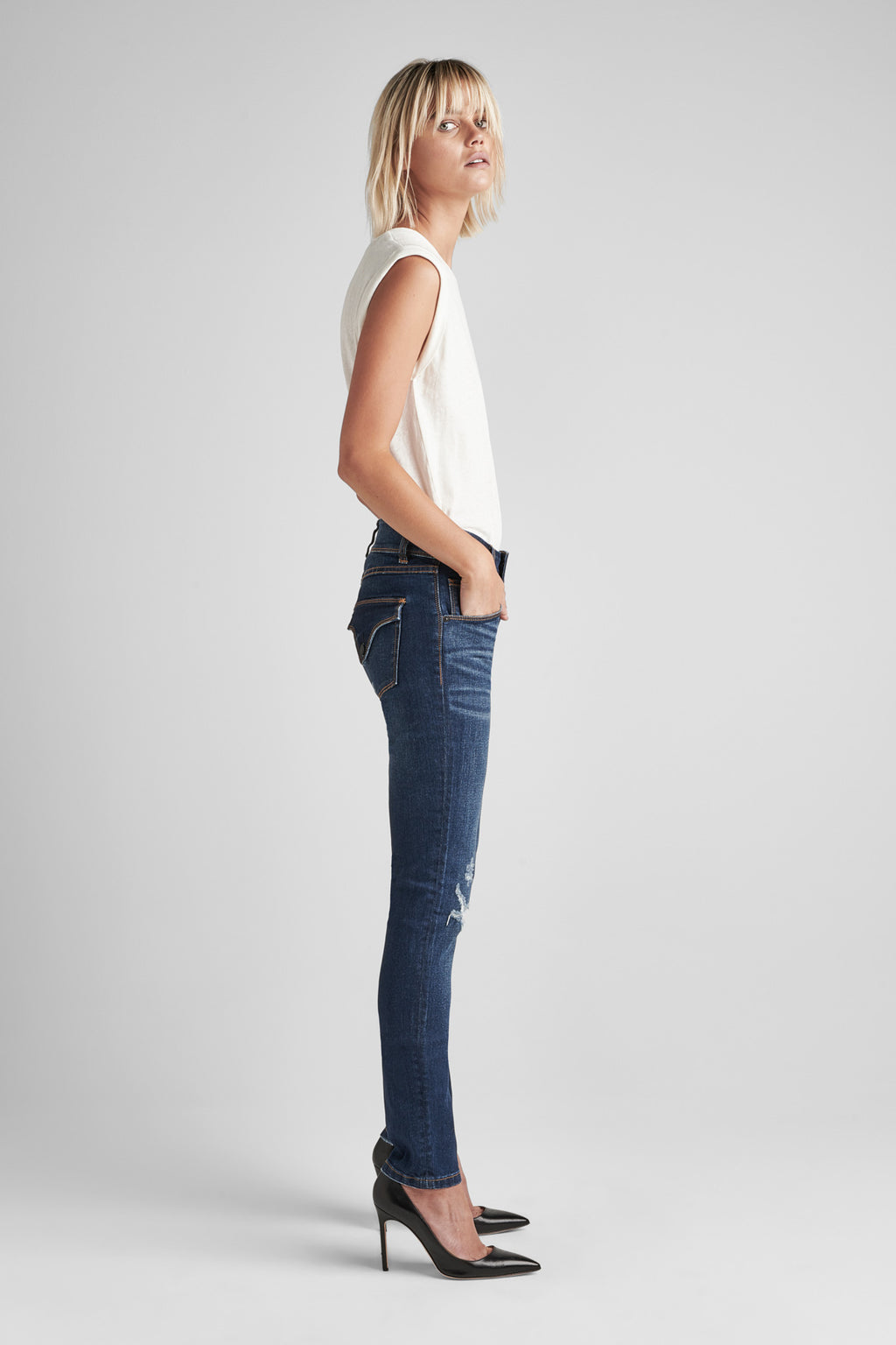COLLIN MIDRISE SKINNY JEAN - DEST. POPULAR (DESTRUCTED) - Image 2