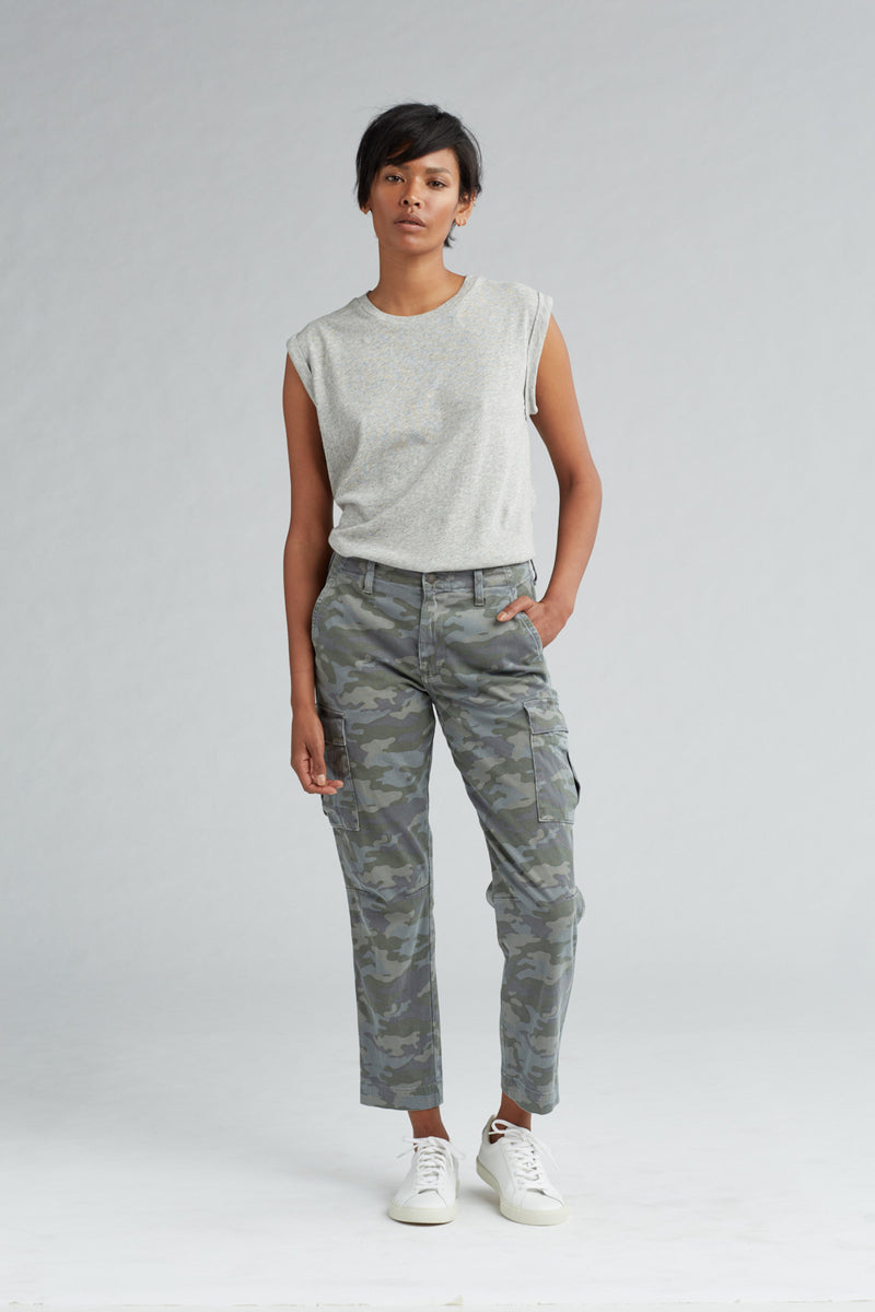 JANE SLIM CARGO PANT - SURPLUS CAMO - Image 1
