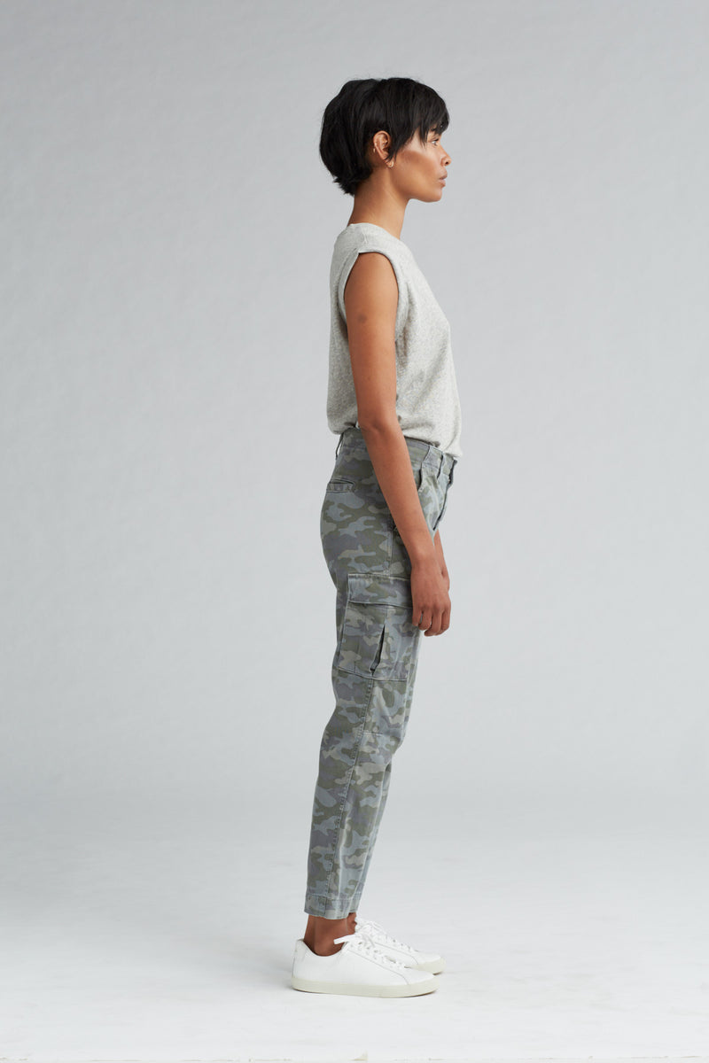 JANE SLIM CARGO PANT - SURPLUS CAMO - Image 3