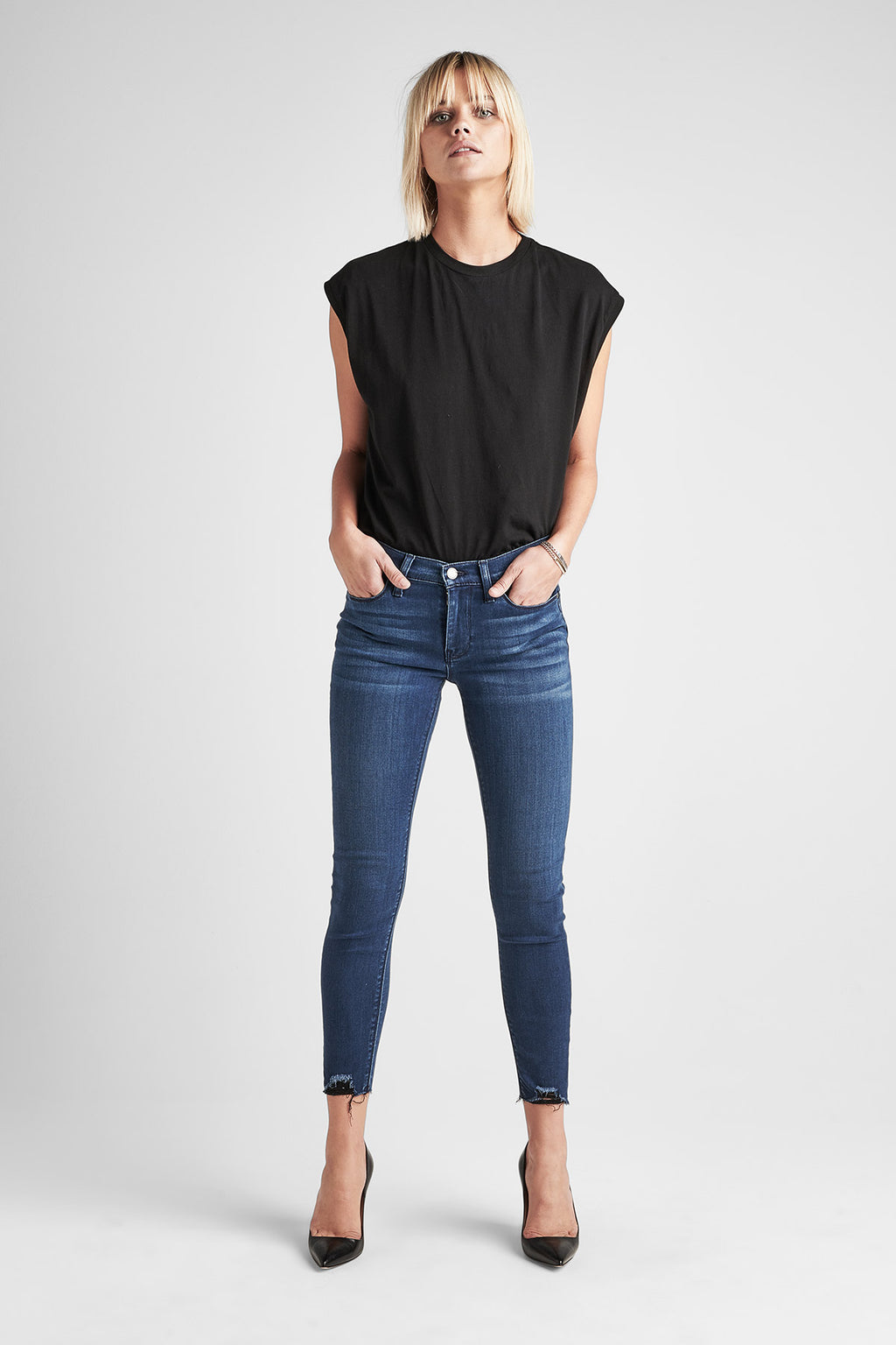 NICO MIDRISE SUPER SKINNY ANKLE JEAN - THREE DIAMOND - Image 1