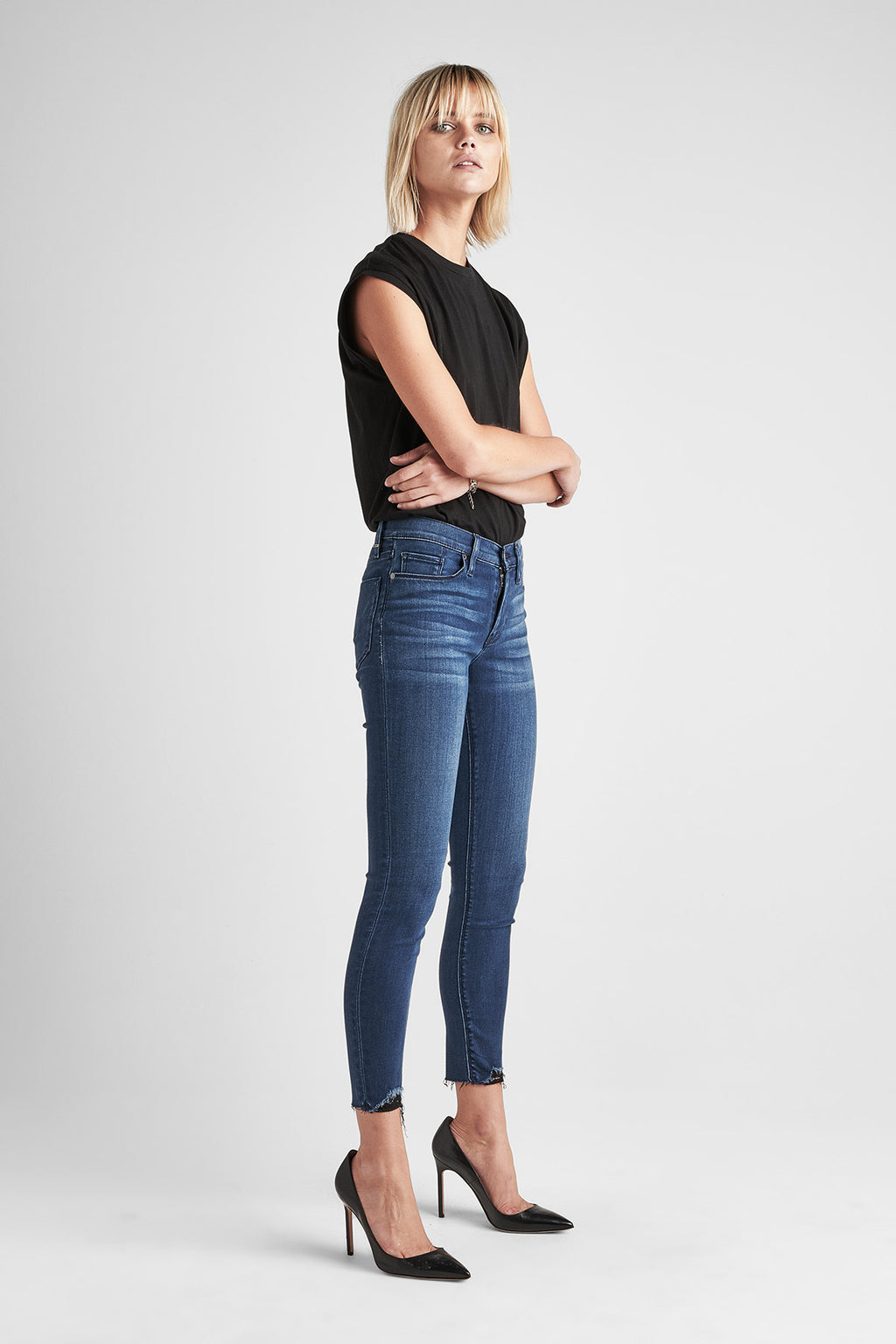 NICO MIDRISE SUPER SKINNY ANKLE JEAN - THREE DIAMOND - Image 2