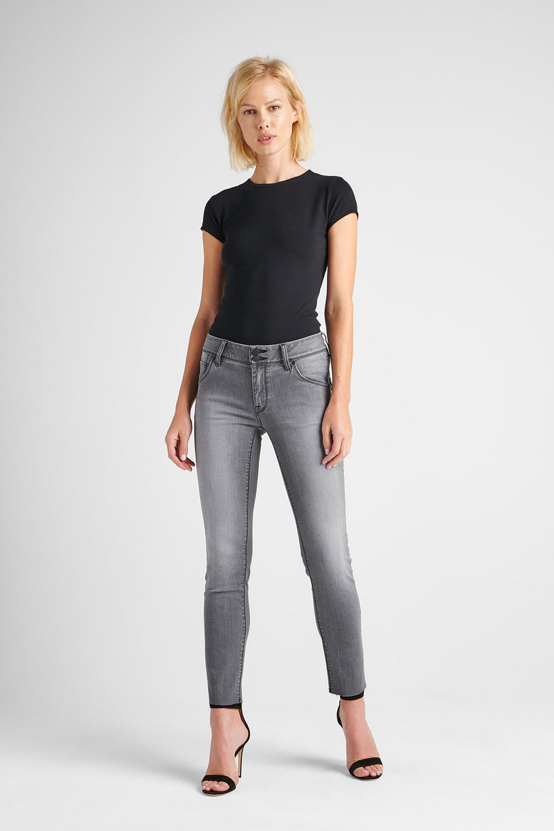 COLLIN MIDRISE SKINNY JEAN - TROOPER GREY - Image 1