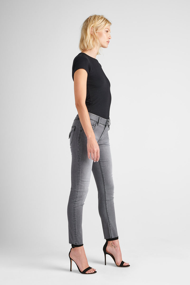 COLLIN MIDRISE SKINNY JEAN - TROOPER GREY - Image 2