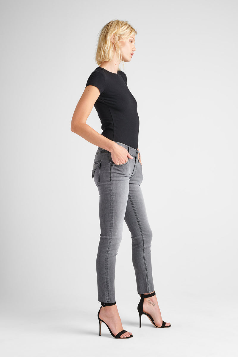COLLIN MIDRISE SKINNY JEAN - TROOPER GREY - Image 3