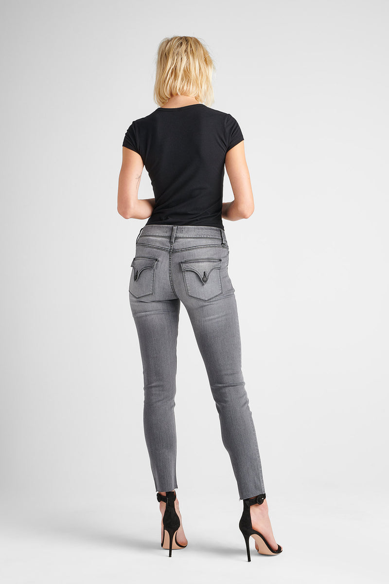COLLIN MIDRISE SKINNY JEAN - TROOPER GREY - Image 4