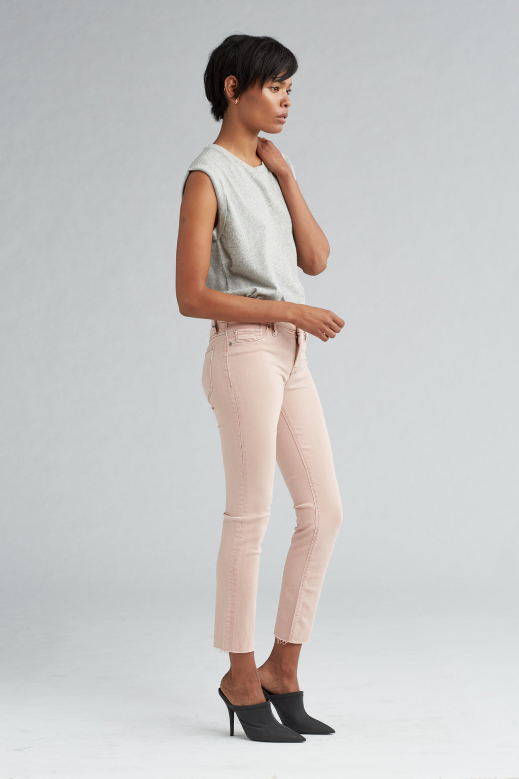 TALLY MIDRISE SKINNY CROP JEAN - LUCERNE - Image 2