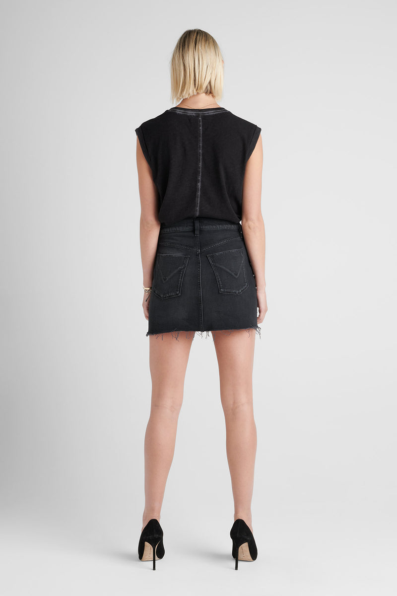 THE VIPER DENIM MINI SKIRT - HARRAH - Image 3